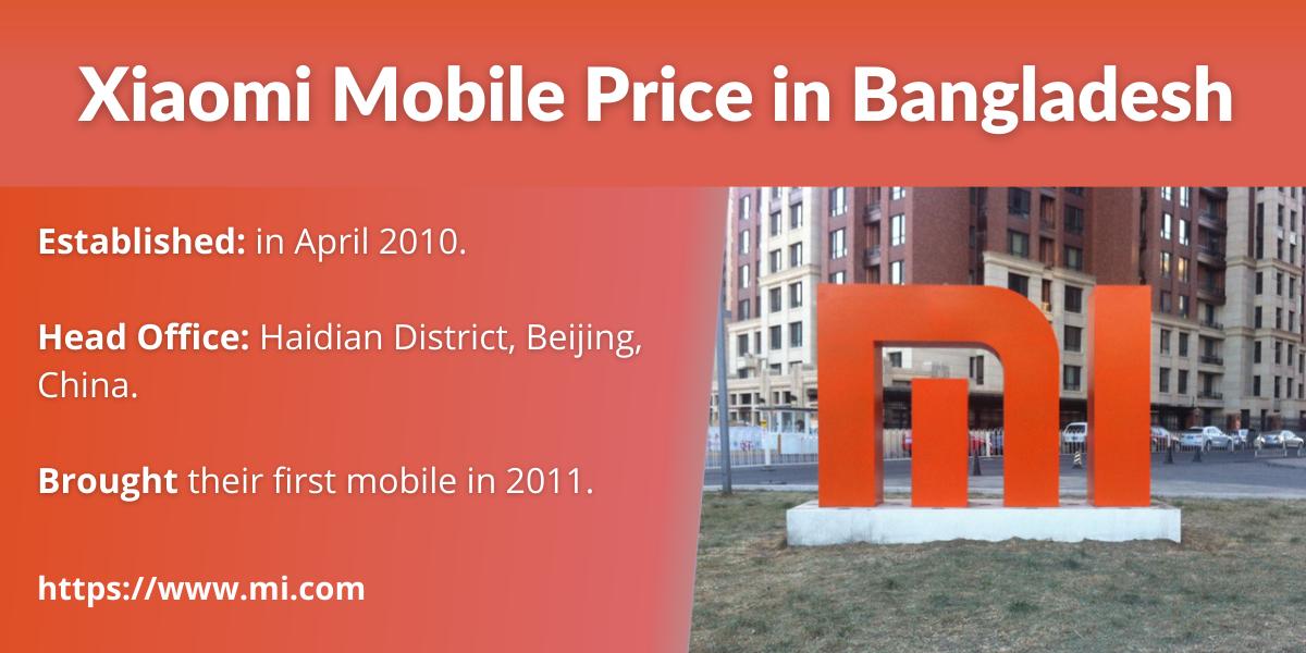 Xiaomi Mobile Price in Bangladesh