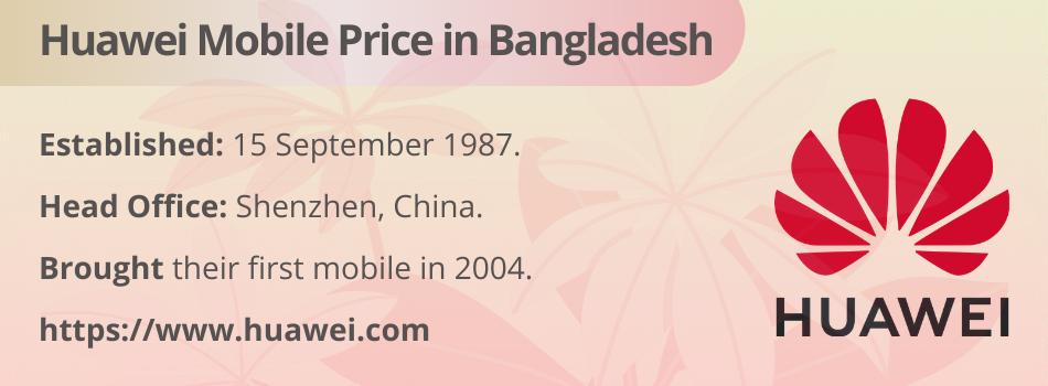 Huawei Mobile Price in Bangladesh