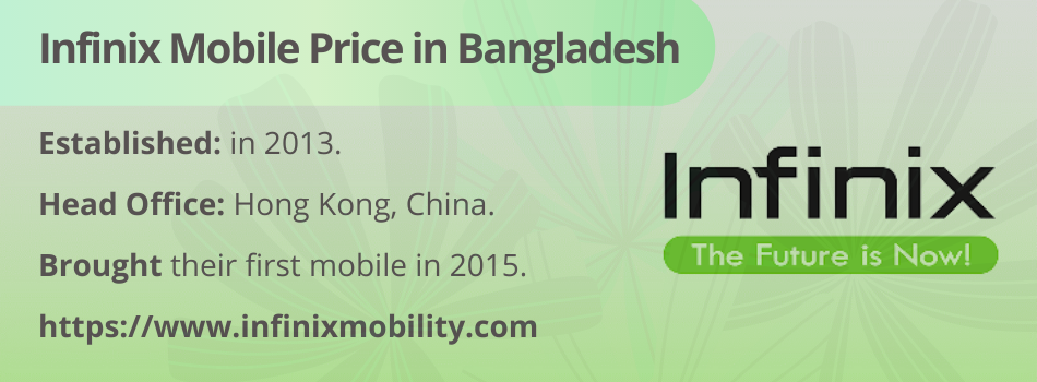 Infinix Mobile Price in Bangladesh