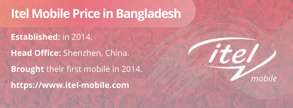 Itel Mobile Price in Bangladesh