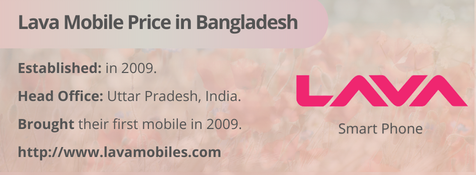 Lava Mobile Price in Bangladesh