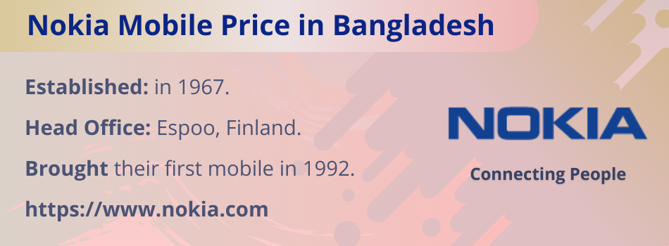 Nokia Mobile Price in Bangladesh
