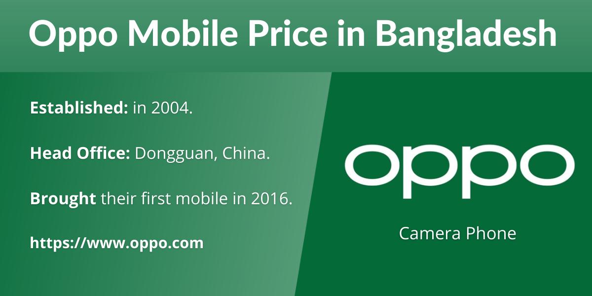 Oppo Mobile Price in Bangladesh