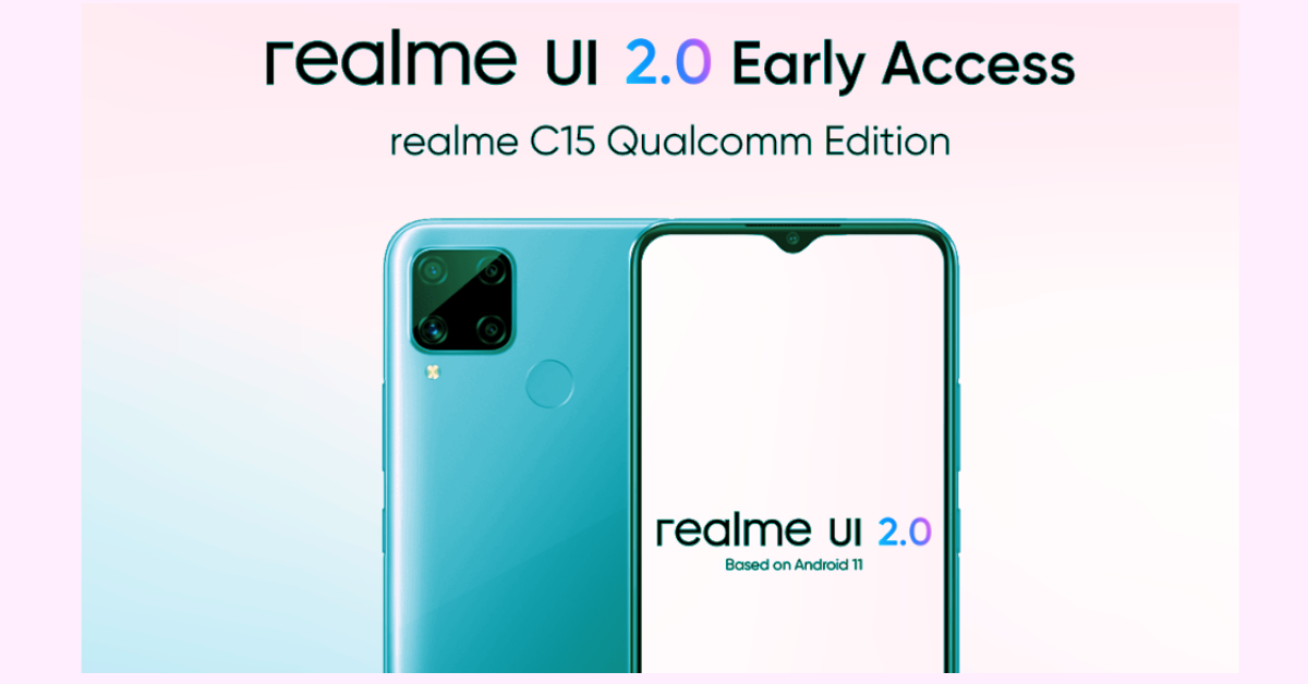 Realme UI 2.0 early access program goes live for C15 Qualcomm Edition