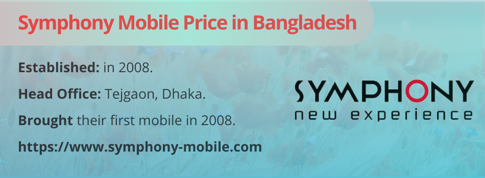 Symphony Mobile Price in Bangladesh