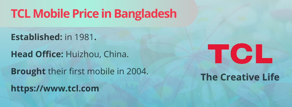 TCL Mobile Price in Bangladesh